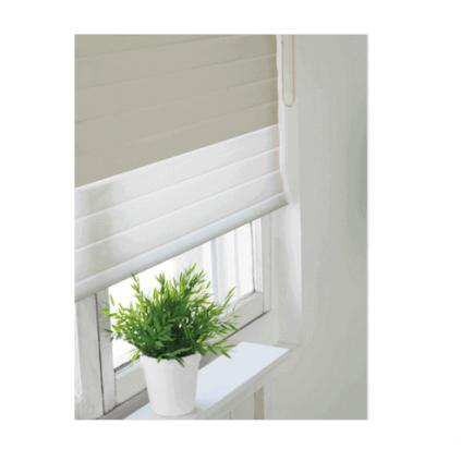 plante sur tablette devant une fenêtre avec toile diaphane