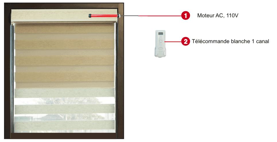 motorisation toile de fenêtre